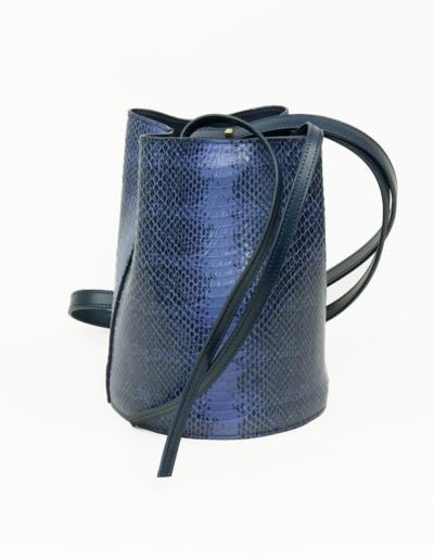 Sac Bosley PM bleu python | Atelier Farny
